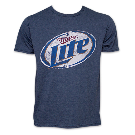 Miller Lite Beer TShirt - Heather Blue