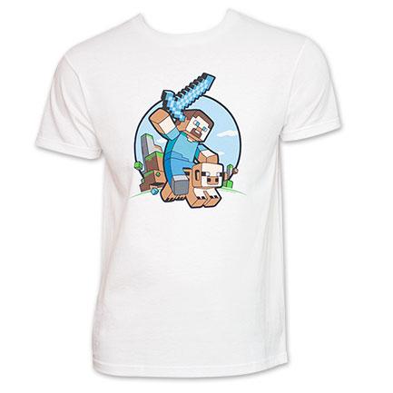 Minecraft Pig Rider Tee White