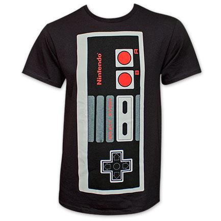 Nintendo NES Jumbo Controller T Shirt - Black