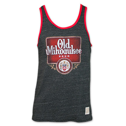 Retro Brand Old Milwaukee Beer Tank Shirt - Black