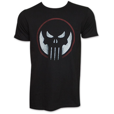 The Punisher Dead Sight Logo TShirt - Black