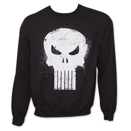 Punisher Crew Neck Mens Sweatshirt - Black