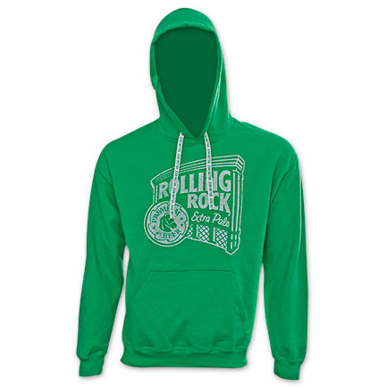 Rolling Rock Logo Hoodie Green