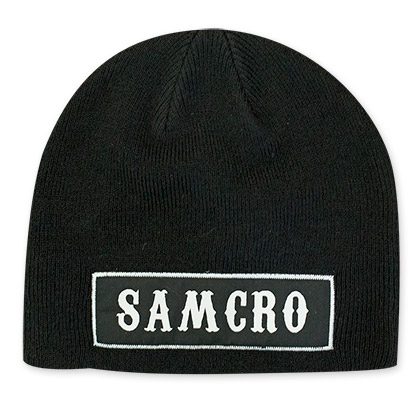 Sons Of Anarchy Black SAMCRO Logo Beanie