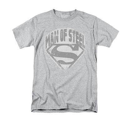 Superman Man Of Steel Gray T-Shirt
