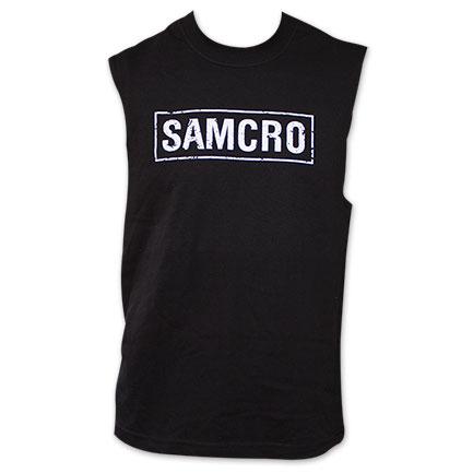 Sons of Anarchy Men's SAMCRO Logo Sleeveless Shirt Black