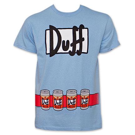 The Simpsons Duffman Costume TShirt - Blue