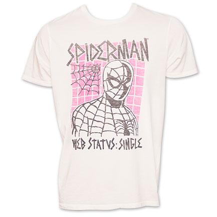 Junk Food Brand Spiderman TShirt - White