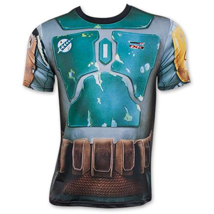 Star Wars Sublimated Boba Fett Men's Athletic Costume Tee Shirt