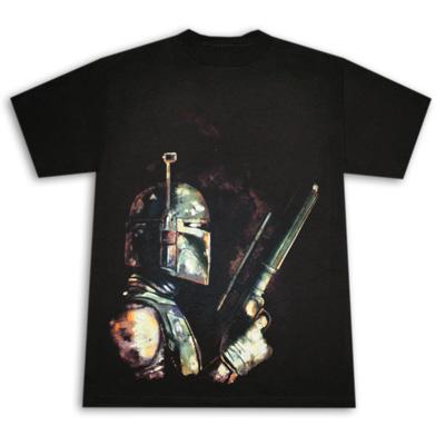 Star Wars Bounty Hunter Boba Fett Black Graphic Tee Shirt