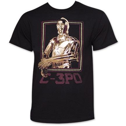 Star Wars Men's C-3PO Gold Foil T-Shirt