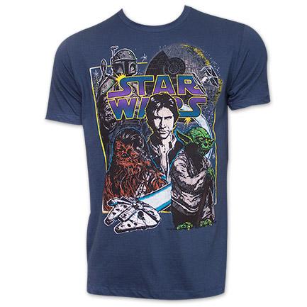 Star Wars Galactax Characters TShirt - Blue