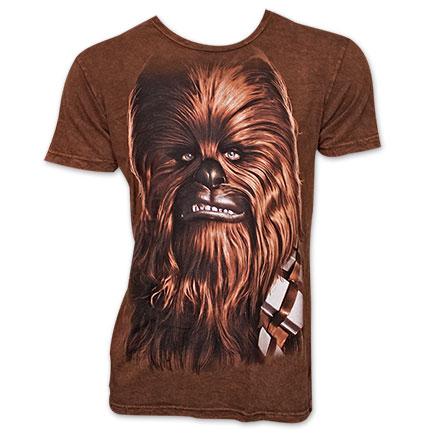 Star Wars Big Chewbacca Face T Shirt - Brown
