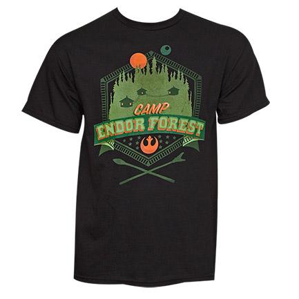 Star Wars Camp Endor Forest TShirt - Black