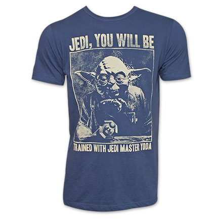 Star Wars Training Day Yoda Jedi TShirt - Blue