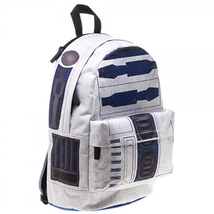Star Wars R2D2 Backpack With Hood - White & Blue
