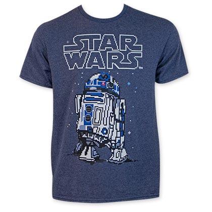 Star Wars Men's Sixteen Bit R2D2 Tee Shirt
