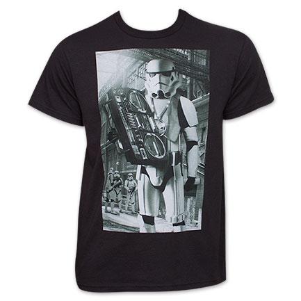 Star Wars Black Stormtrooper Boombox Tee Shirt