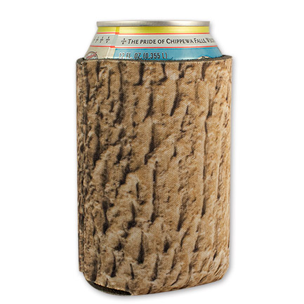 Tree Stump Bark Novelty Cooler Koozie Can Holder