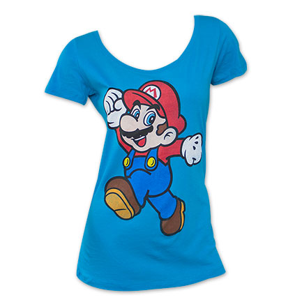 Nintendo Mario Super Pose Juniors TShirt - Blue