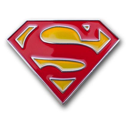 Superman Red Yellow Logo Enamel Belt Buckle