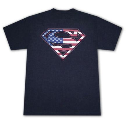 Superman American Flag USA Logo Stars Stripes Patriotic T-Shirt