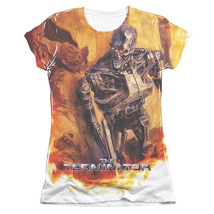 The Terminator Killing Fields Sublimation Juniors T-Shirt