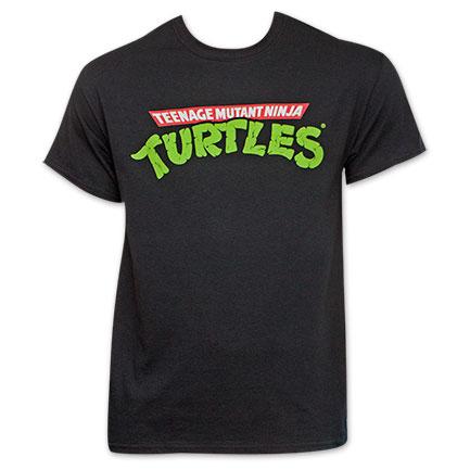 Teenage Mutant Ninja Turtles Logo Black TShirt