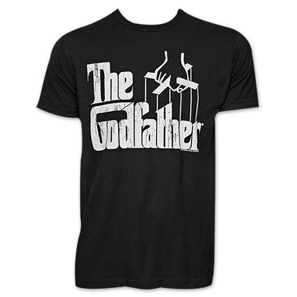 The Godfather Crackled Logo Tee Shirt - Black