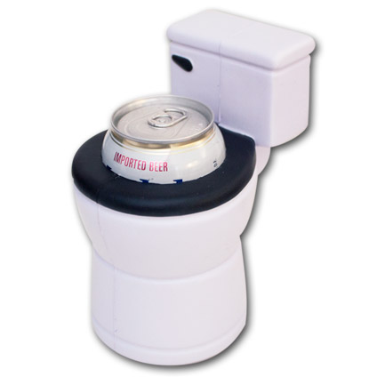 Toilet Novelty Foam Can Cooler Koozie