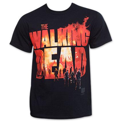 The Walking Dead Burning Logo Shirt