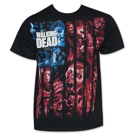 The Walking Dead American Flag Zombie Tee Shirt
