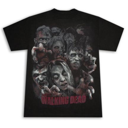Walking Dead Zombie Crowd Tee Black