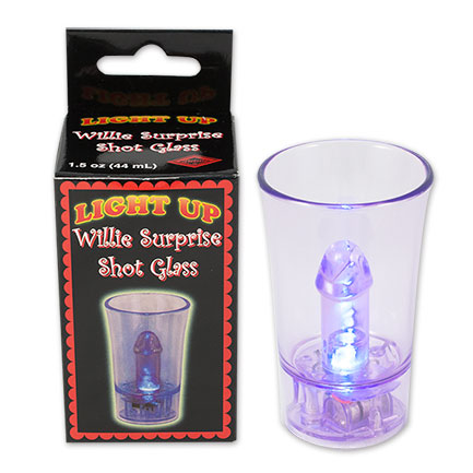 Willie Plastic Light-up Shot Glass