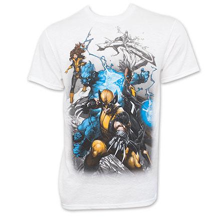 X-Men Wolverine Marvel Attack Stance White T-Shirt