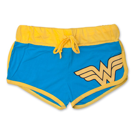 Wonder Woman Logo Shorties Blue