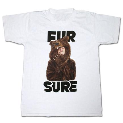 Workaholics Fur Sure Tee White