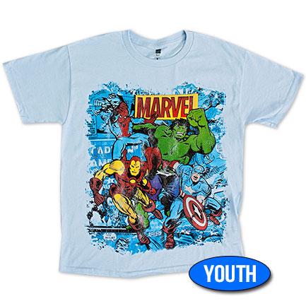 Marvel Team Youth Boys 8-20 T Shirt - Blue
