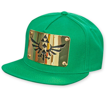 Zelda Green Plate Metal Snapback Hat