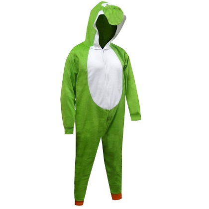 Super Mario Bros. Yoshi Costume Men's One Piece Union Suit Pajamas