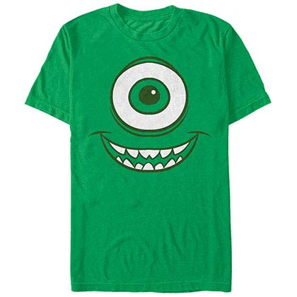 Disney Pixar Monsters Inc University Mike Face Green T-Shirt
