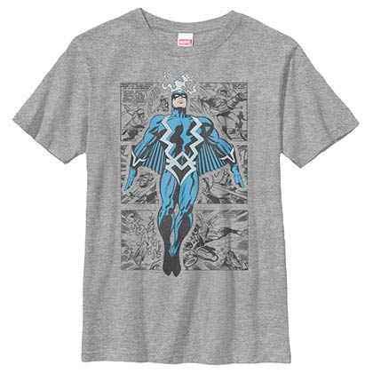 Marvel Teams Blackbolt Three Panel Gray Youth T-Shirt