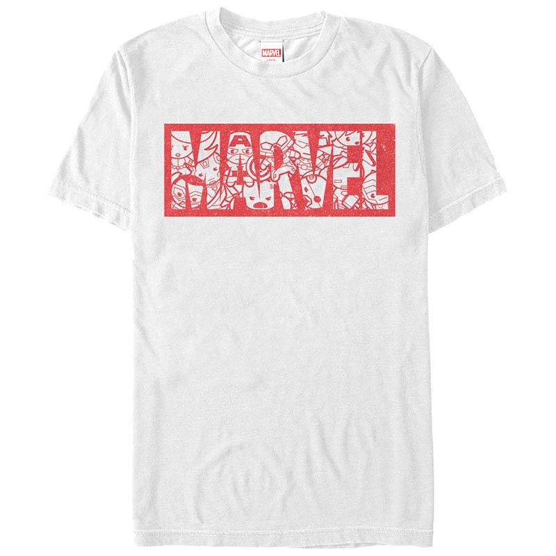 Marvel Teams Kawaii Marvel White Mens T-Shirt