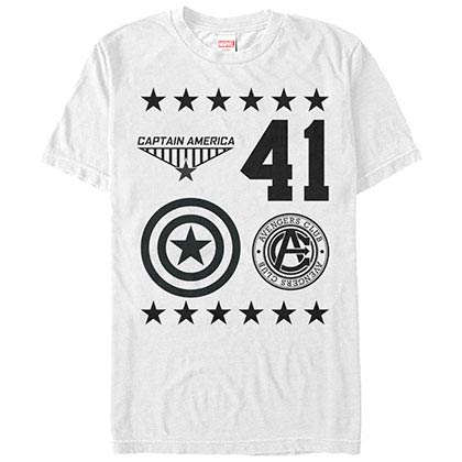Captain America Reppin Captain White Mens T-Shirt