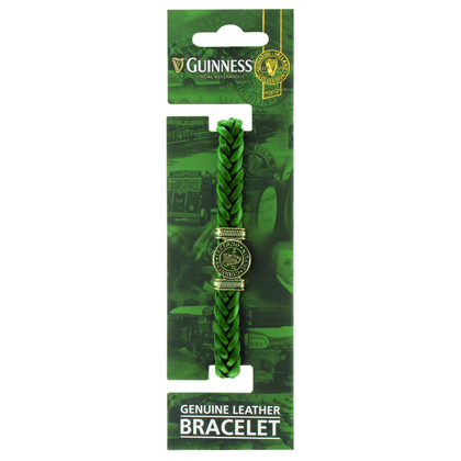 Guinness Ireland Green Leather Harp Bracelet