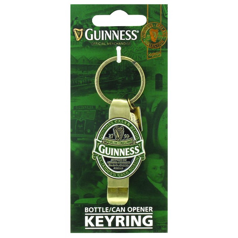 guinness ireland bottle opener keychain. Black Bedroom Furniture Sets. Home Design Ideas