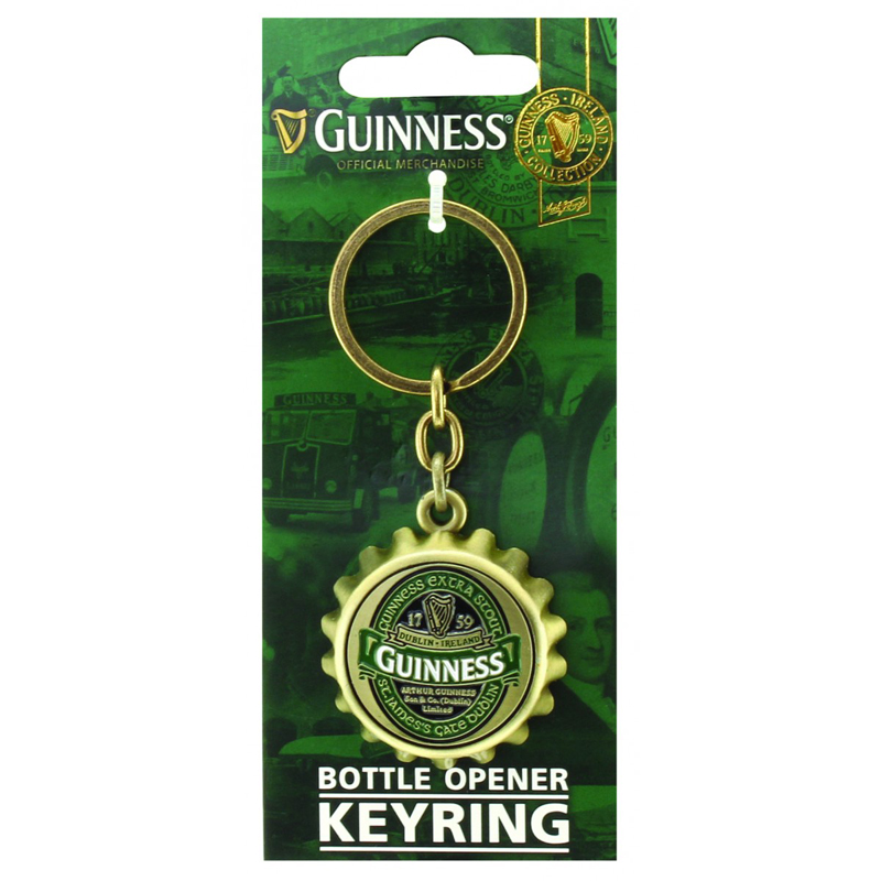 guinness ireland bottle cap bottle opener keychain. Black Bedroom Furniture Sets. Home Design Ideas