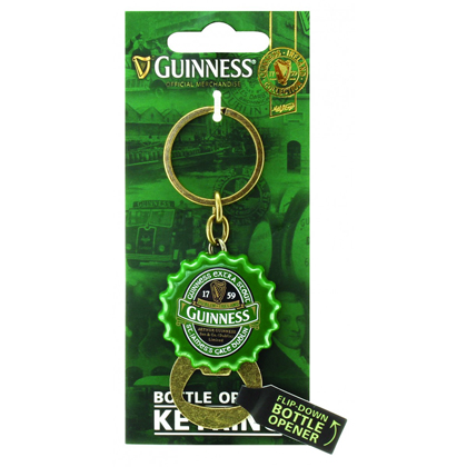 Guinness Flipdown Bottle Opener Keyring