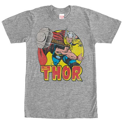 Thor Mighty Gray Mens T-Shirt