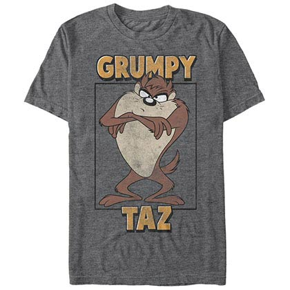 Looney Tunes Grumpy Taz Gray T-Shirt